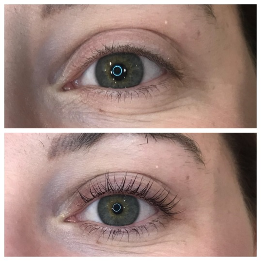 LVL lash lift on short lashes